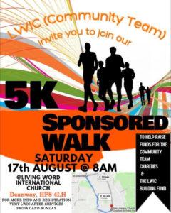 5k Sponsored Walk @ Living Word International Church | Chalfont Saint Giles | England | United Kingdom